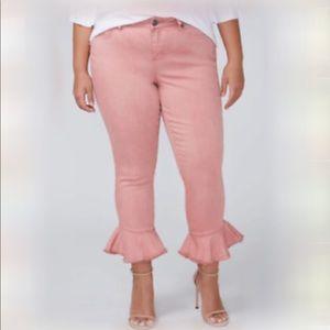 Size 26 Lane Bryant Blush Skinny Crops NWT